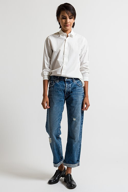 Moussy MV Celina Cropped Jeans in Dark Blue