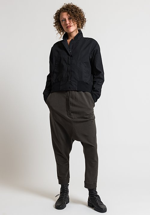 Rundholz Black Label Short Relaxed Jacket in Black