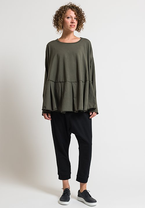 Rundholz Black Label Pleated Patchwork Top in Vert