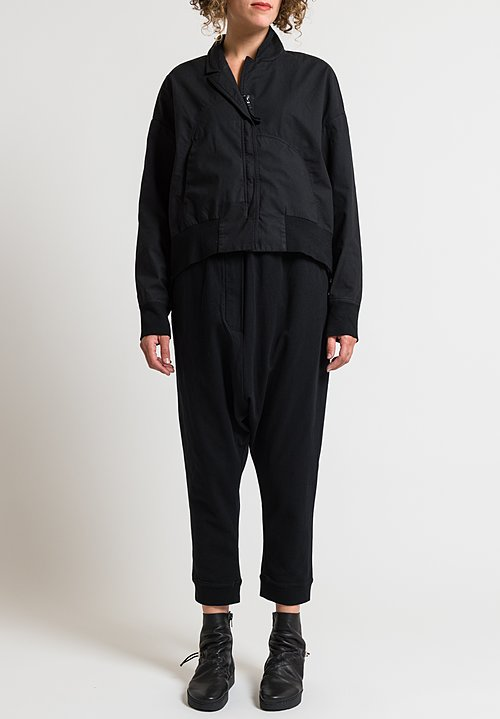 Rundholz Black Label Relaxed Drop Crotch Pants in Black