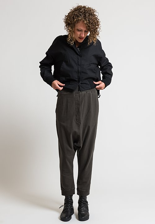 Rundholz Black Label Relaxed Drop Crotch Pants in Mocca