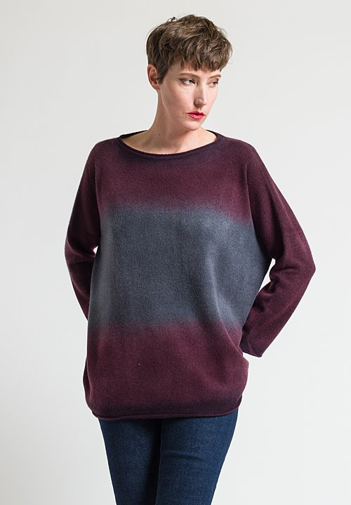 Alonpi Cashmere Nuanced Geordy Sweater in Burgundy