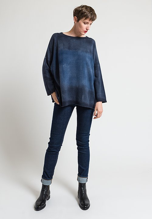 Alonpi Cashmere Nuanced Geordy Sweater in Blue