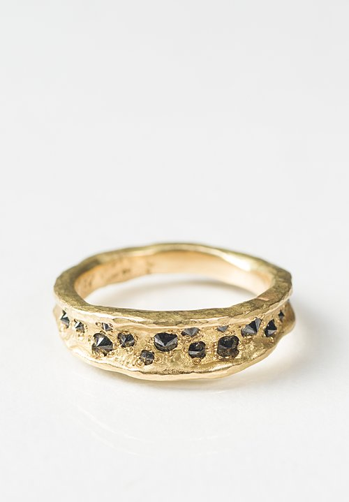 Tap by Todd Pownell 18K, Concave Black Diamond Ring