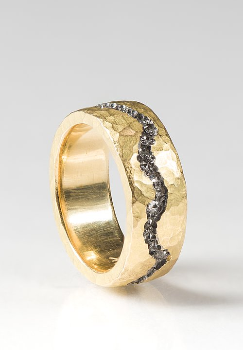 Tap by Todd Pownell 18K, Diamond Fissure Ring