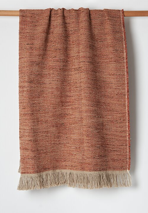 Uniq'uity Belgium Linen Throw in Red