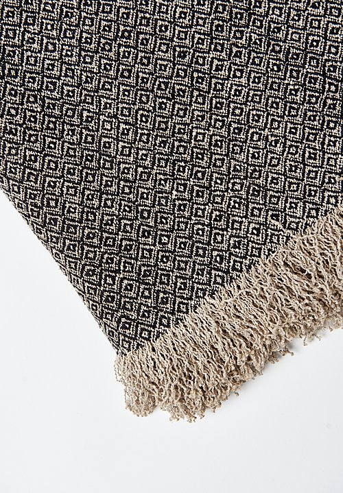Uniq'uity Belgium Linen Throw in Black
