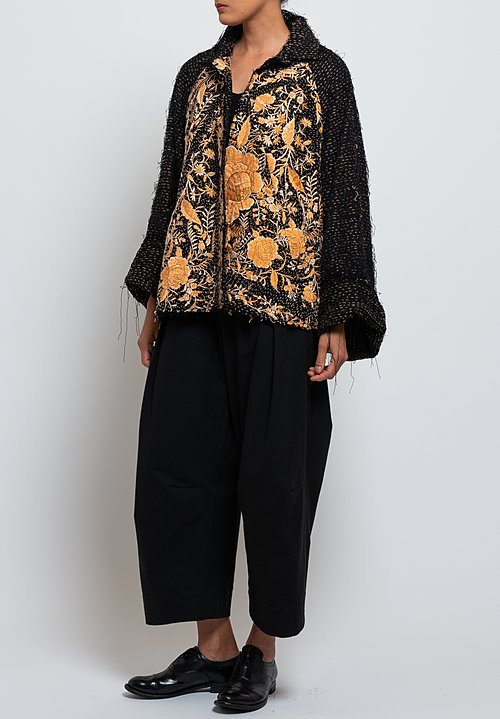 By Walid Judy Chinese Panel Coat in Black