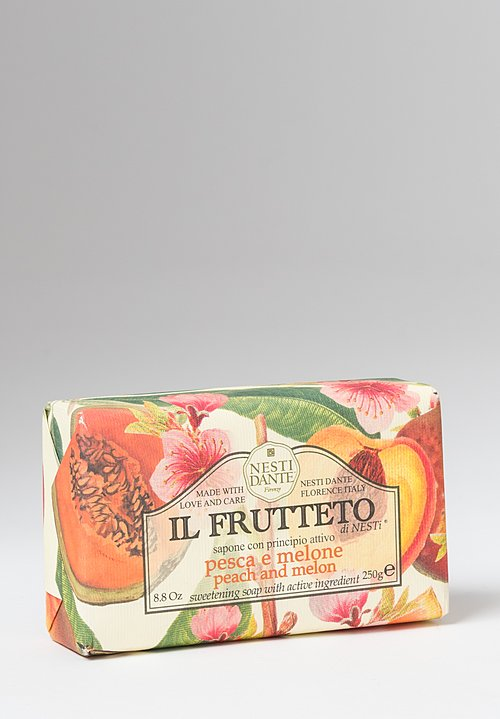 Nesti Dante Il Frutteto Extra Fine Vegetable Soap in Peach & Melon