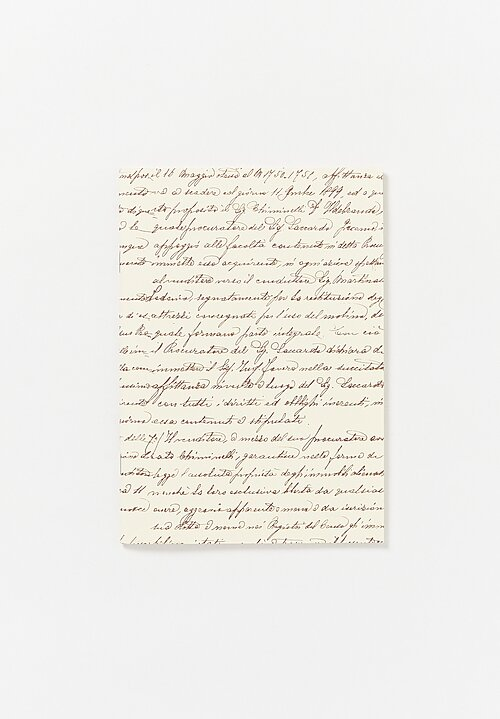 A5 Paperback Lined Notebook in Script Print