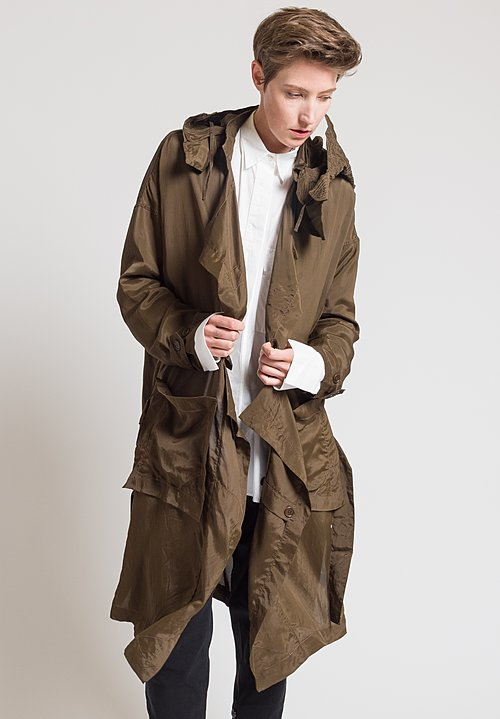 Urban Zen Parachute Trench Coat in Bronze