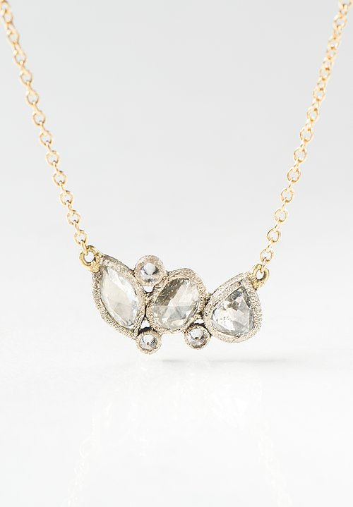 18K Gold, Rose Cut Diamond Necklace