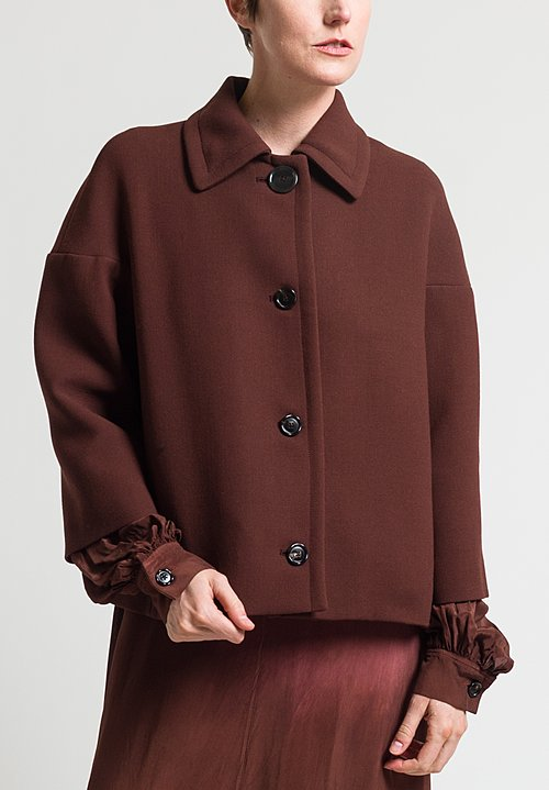 Marni Wool Double Face Crepe Jacket