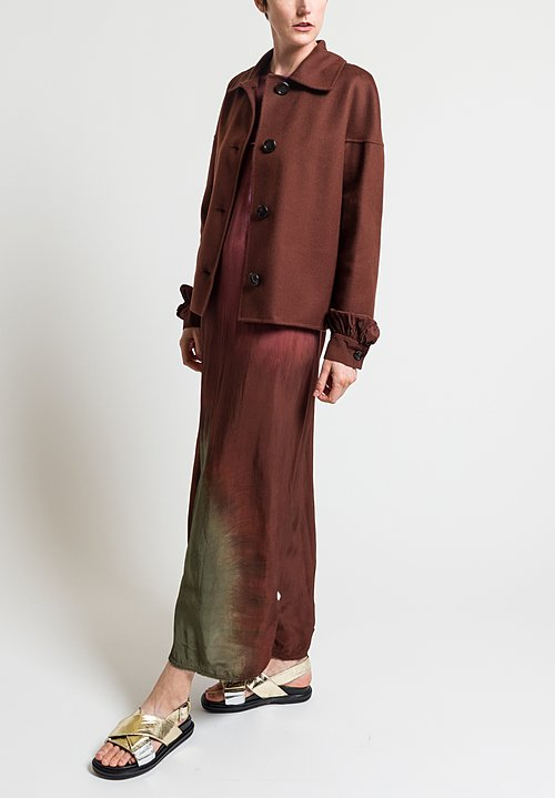 Marni Wool/Cashmere Double Face Crepe Jacket in Dark Raisin