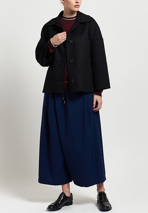 Marni Double Face Crepe Jacket in Black