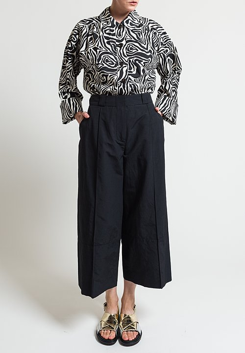 Marni Light Faille Pants in Black