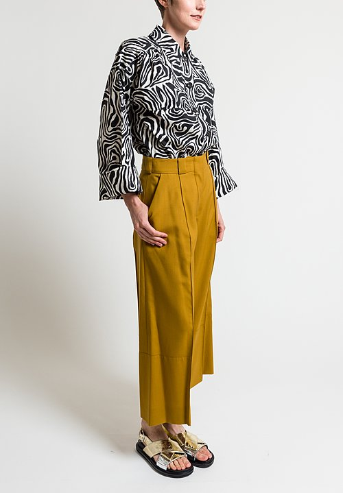 Marni Tropical Faille Pants in Caramel