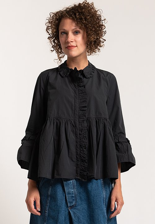 Henrik Vibskov Cotton Cake Blouse in Black