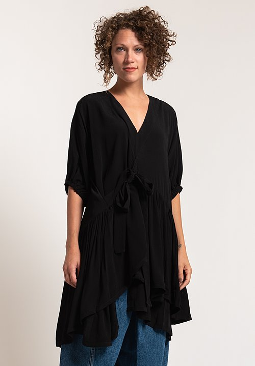 Henrik Vibskov Crepe Grace Tunic in Black