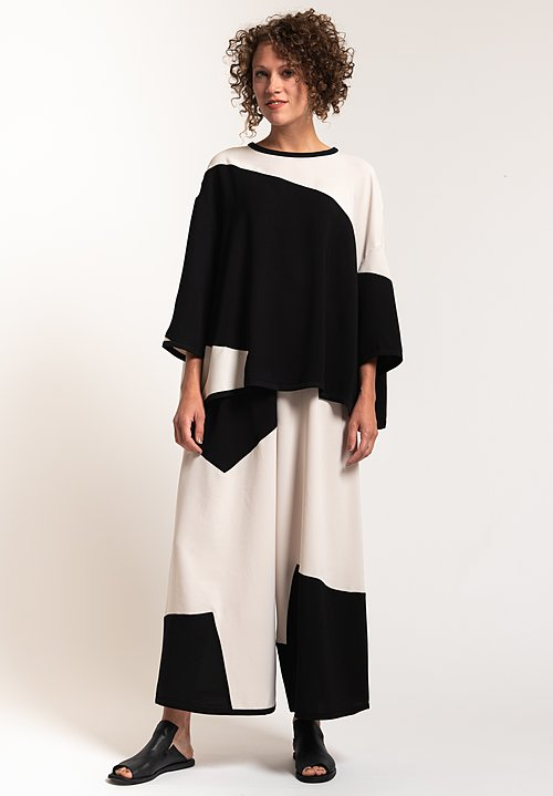 Henrik Vibskov Fab Top in Black/ White