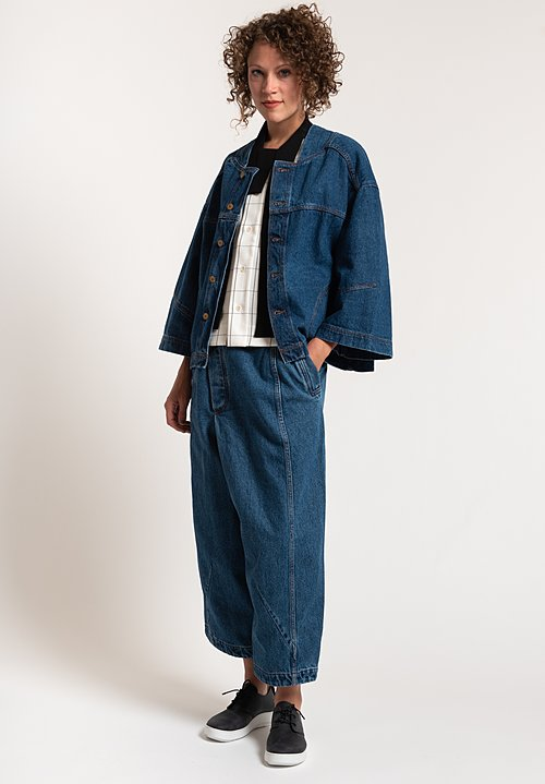 Henrik Vibskov Cotton Denim Pound Jacket in Blue