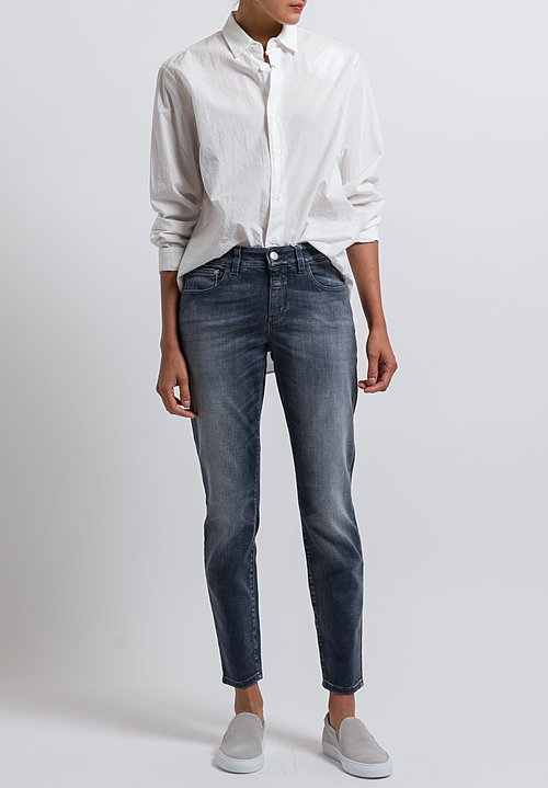 Closed Baker Cropped Narrow Jeans in Easy Wash Grey