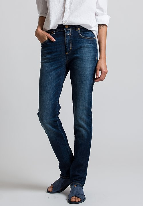 Closed Britney Slim Fit Jeans in Deep Blue Vintage