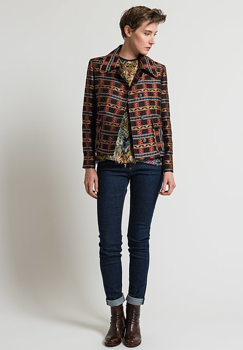 Etro Patterned Jacket in Black