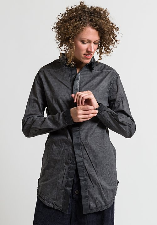 Umit Unal Button Up Shirt in Anthracite