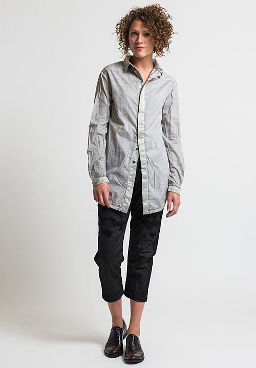 Umit Unal Button Up Shirt in Light Grey
