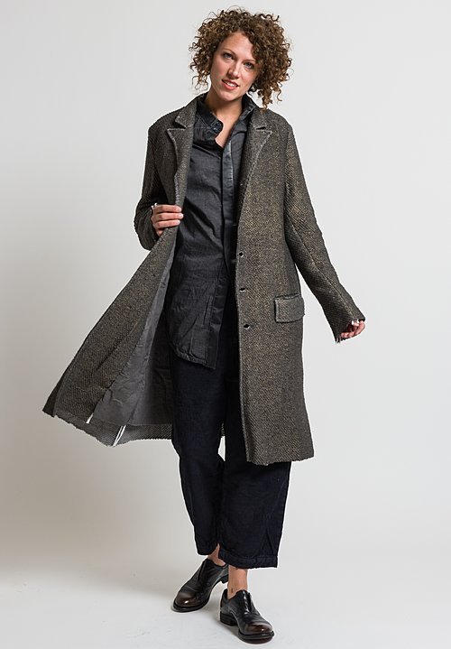Umit Unal Metallic Peaked Lapel Coat