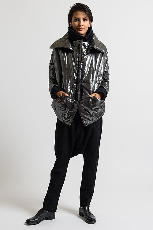 Rundholz Dip Metallic Puffer Jacket in Silver