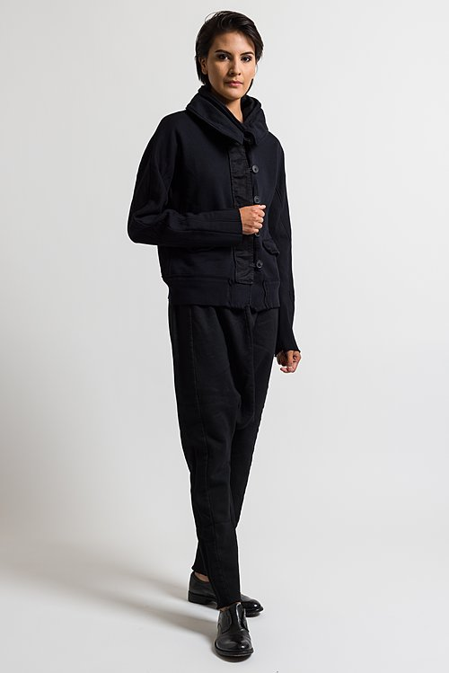 Rundholz Dip Button Down Jacket in Dark Blue