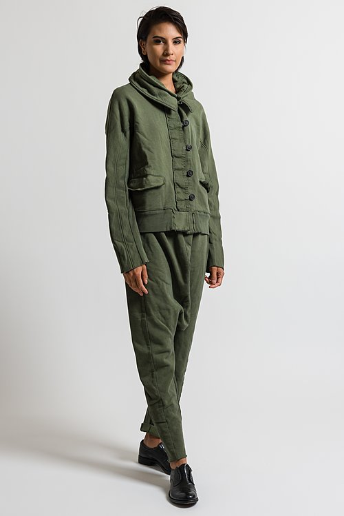 Rundholz Dip Button Down Jacket in Green