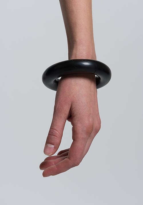 Monies Large Round Bracelet in Black