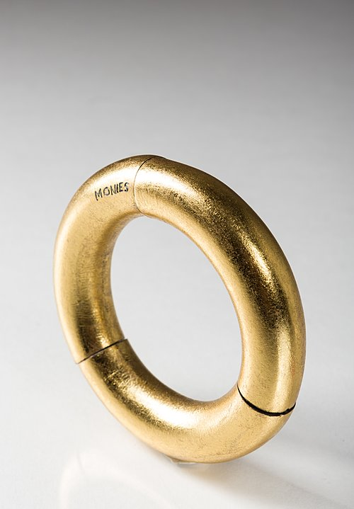 Monies Large Round Bracelet in Gold