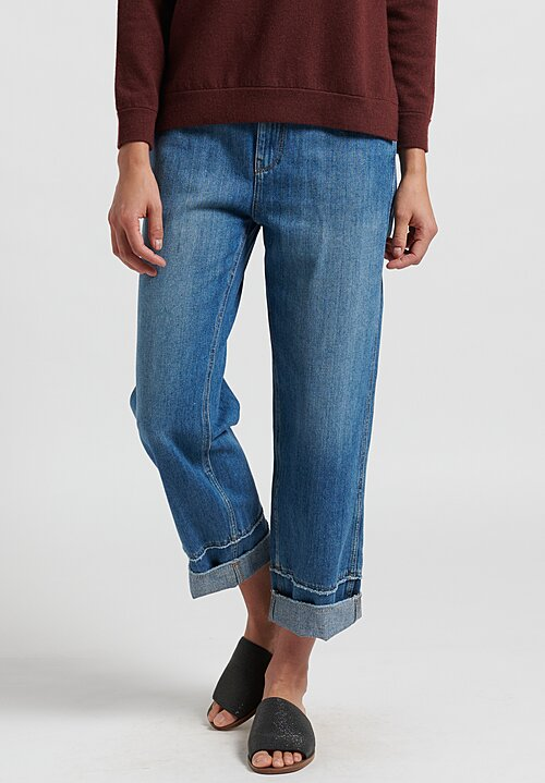 Brunello Cucinelli Denim Skater Jeans in Blue