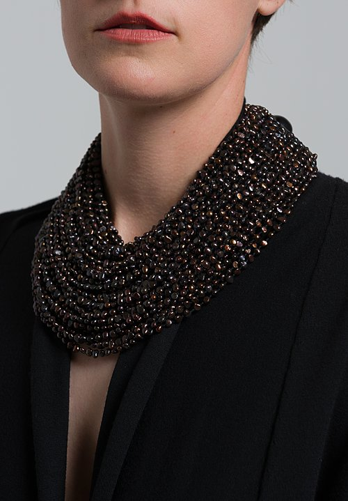 Monies UNIQUE Pearl & Ebony Multi Strand Necklace