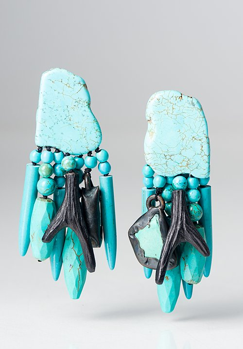 Monies UNIQUE Turquoise Dangle Earrings