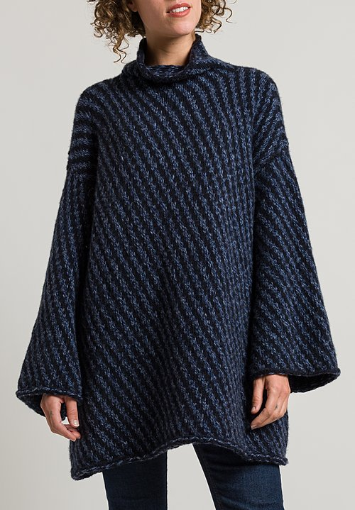 Hania Olympia Sweater in Navy/ Midnight