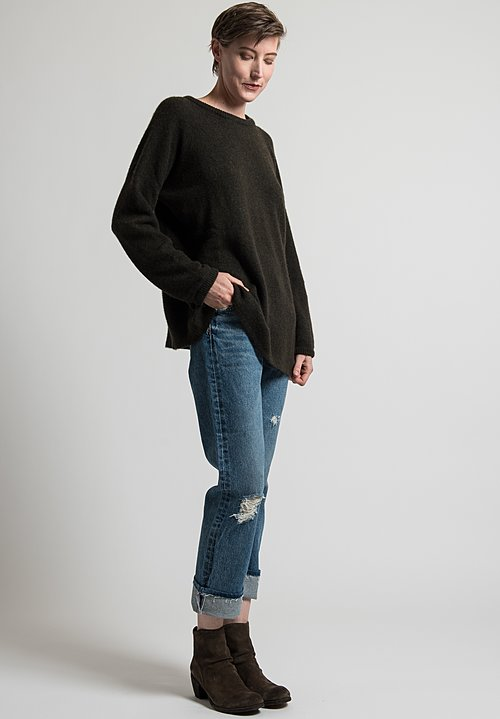 Kaval Pullover Sweater in Olive Drab