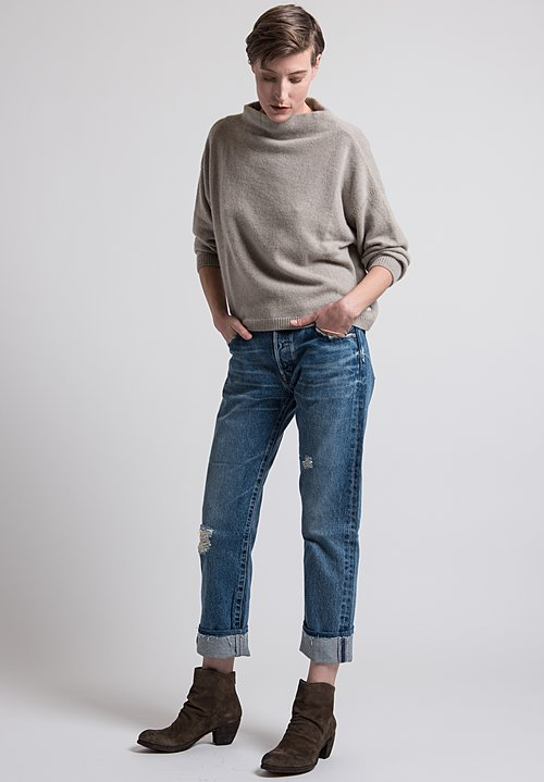 Kaval Short Knit Sweater in Ash