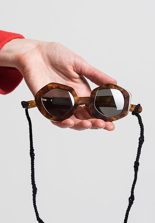 Daniela Gregis Small Melagrana Glasses in Tortoise Shell