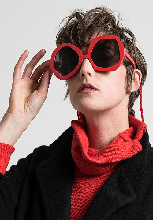 Daniela Gregis Large Melagrana Glasses in Coral