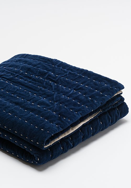 Cotton Elise Throw in Cobalt