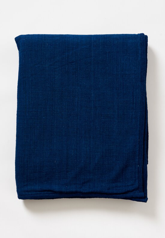 Cotton Hand-Spun Blue Hue Blanket in Indigo