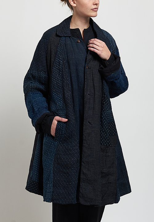 Kaval Douchu Coat in Indigo