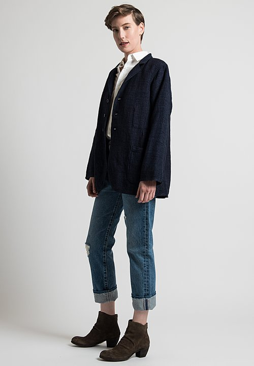 Kaval Simple Blouse Jacket in Indigo