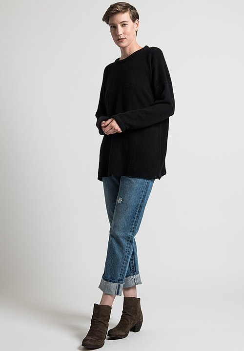 Kaval Pullover Sweater in Black