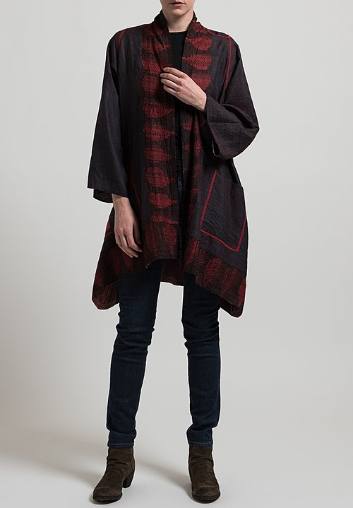 Mieko Mintz 2-Layer Shibori Print Jacket in Red